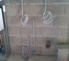 évacuation machine à laver et sortie extérieure sèche-linge