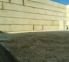 élévation des murs 1er étage vue intérieur