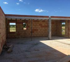 Préparation du deuxième toit terrasse