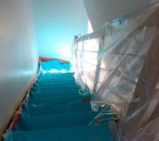 Escalier fraîchement installé
