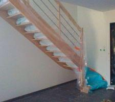 Escalier fraîchement posé