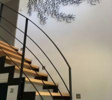 Mur de l?escalier enfin habillé ! Algues des frères Bouroullec by Vitra !