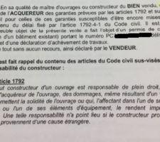 Mention faisant apparaître le N° de PC et une déclaration de fin d'achèvement de travaux... Or, la déclaration n'a jamais été déposée en mairie!!!