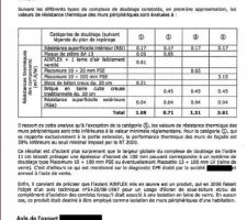 Rapport d'expertise - isolation