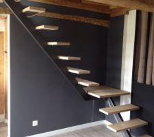 Pose escalier sur place