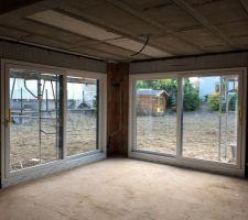 Baies vitrées PVC en coulissant-levant