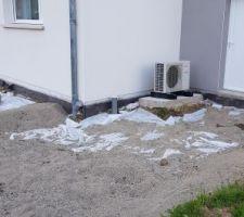 Préparation pour la terrasse