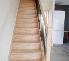 Un escalier droit