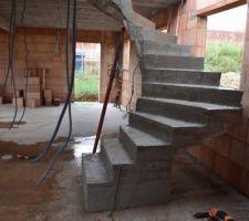 Escaliers sans le coffrage