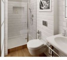 Un effet brique blanc pour ma salle de bain enfant