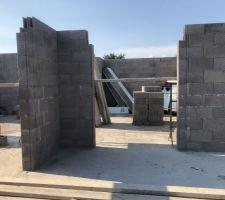 25/07/2018 : Élévation des murs- suite