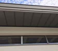 Casquette toit monopente zinc