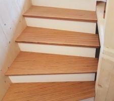 Escalier en laméllé collé hêtre (Baubuche de Pollmeier)
