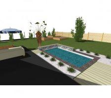Idée d'intégration (piscine paysagère)