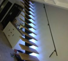 Ajout éclairage LED sur escalier