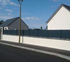 Mur couvre mur  lisse aluminium