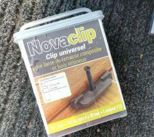Changement pour des fixations Novaclip au lieu des Fixego