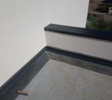 Acrotère et membrane avant pose de la terrasse