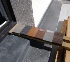 Différentes teintes pour terrasse composite