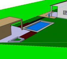 Préparation des chiffrages pour la partie jardin et piscine