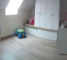 Vue panoramique de la chambre de notre fille
