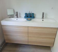 Meubles vasque chambre parentale