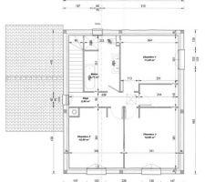 Plan V3 (Permis de Construire) L'implantation de la salle de bain sera inversée.