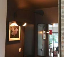 le coin dressing: murs et plafond noirs mat