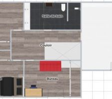 R+1 assez classique. Un atelier est envisagé au dessus du garage.