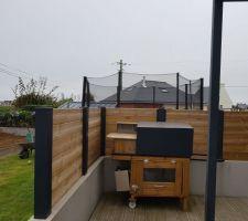 Finition des claustras sur mur de terrasse