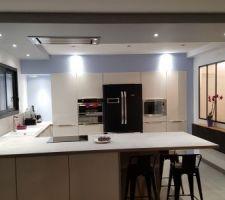 Éclairage secondaire dans la cuisine
