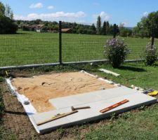 Préparation pour futur abri de jardin