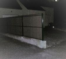 Lamelles d'occultation entrée garage