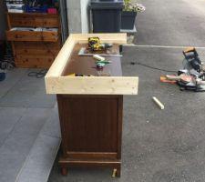 Modification du meuble qui devait partir à la dechetterie