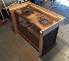 Modification du meuble pour avoir accès sur les siphons