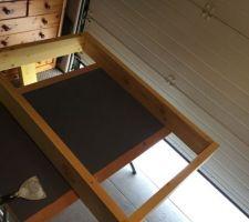 Fabrication d un carde de pour miroir à l aide de chevrons
