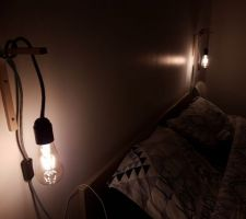 Lampe de chevet Home made