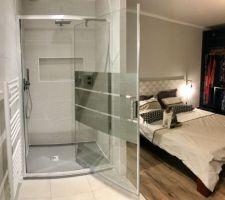 Et une douche enfin utilisable