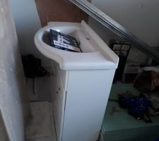 Rénovation du meuble + vasque
