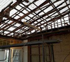 Préparation de la démolition de l'extension
