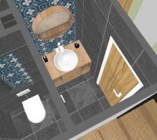 Projection wc et vestiaire