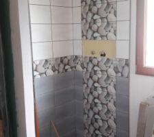 Carrelage de la douche #2 de l'étage