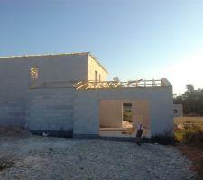 Reprise des travaux, début de la toiture