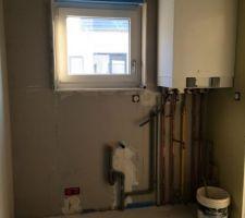Chaudière gaz dans le cellier