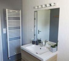 Salle de bain terminée Meuble vasque 100 cms