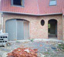 Porte provisoire  garage