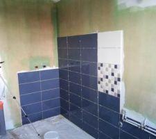 Faïence salle de douche de la suite parentale