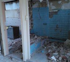 Démolition des murs intérieur de l'extension