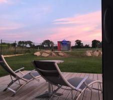 Jardin et abri moderne