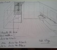 Idée pose carrelage salle d'eau du haut
